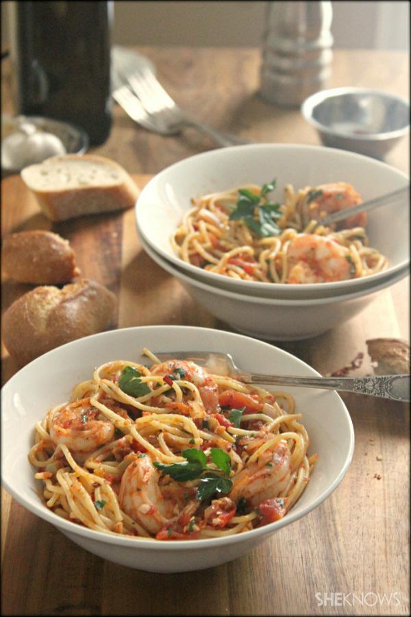 The Italians call it shrimp fra diavolo