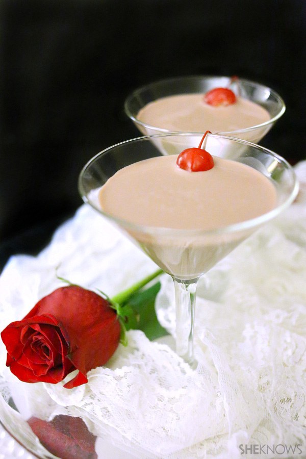 Toast your love with a chocolate martini