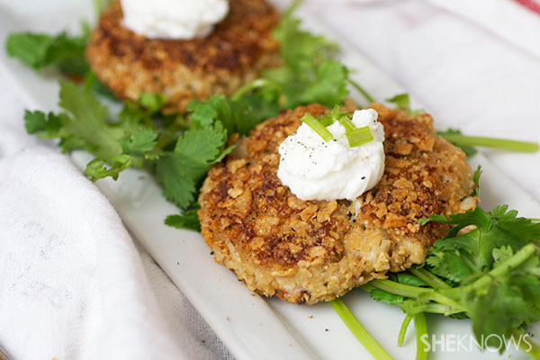 Crab cakes for one
