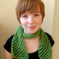 Fishnet summer scarf