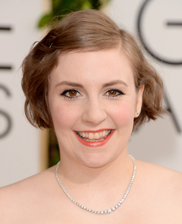 Lena Dunham at the 71st Golden Globes