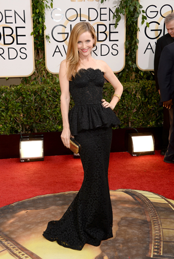 Leslie Mann at the 2014 Golden Globes
