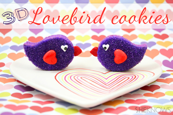 3D Lovebird cookies | SheKnows.com