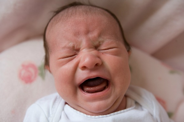 Newborn with colic