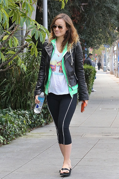 Olivia Wilde workout clothes