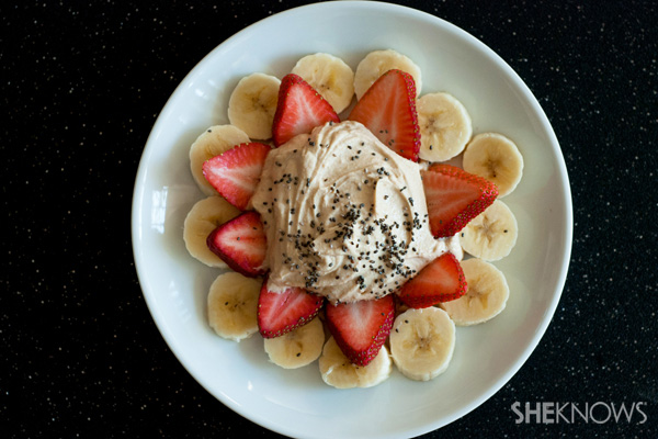 Creamy peanut butter greek yogurt and fruit dip recipe