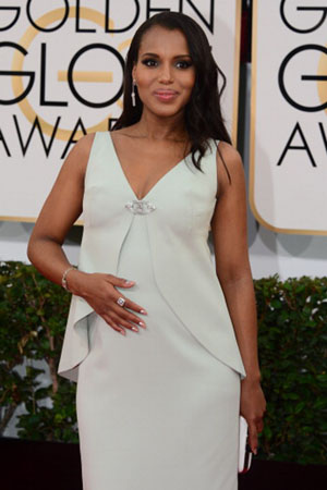 Kerry Washington pregnancy style