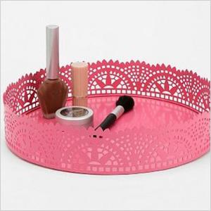 Lace vanity tray