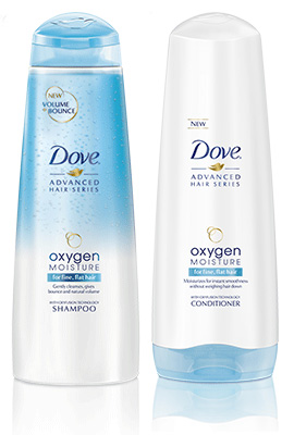 Dove Advanced Hair Series Oxygen Moisture Shampoo & Conditioner (drugstores nationwide, prices vary)