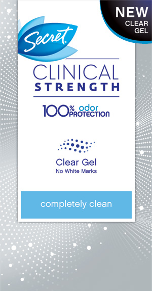 Secret Clinical Strength Clear Gel Deodorant (secret.com, $8)