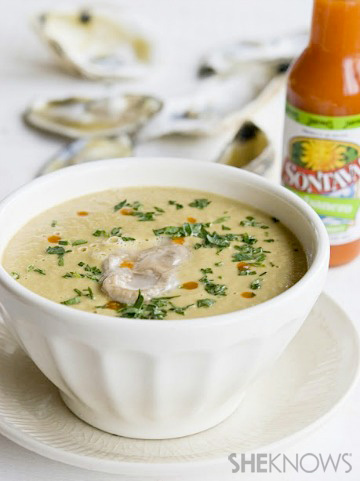 Salsify oyster bisque recipe