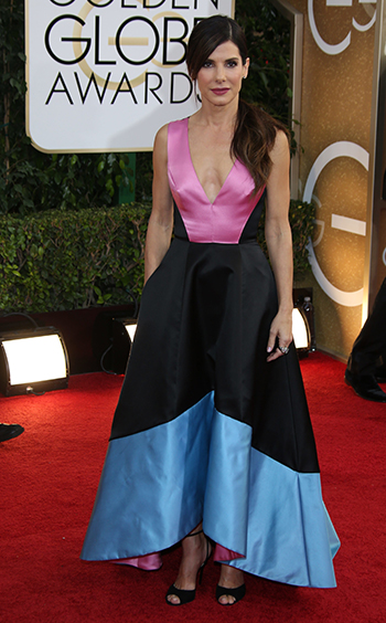 Sandra Bullock at the Golden Globes