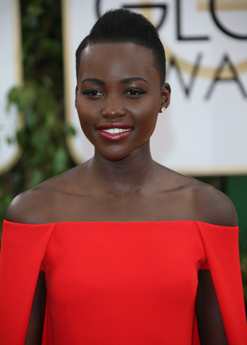 Lupita Nyong'o at the 2014 Golden Globes