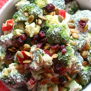 Broccoli salad for vitamin C