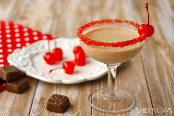 Chocolate-covered cherry cocktail