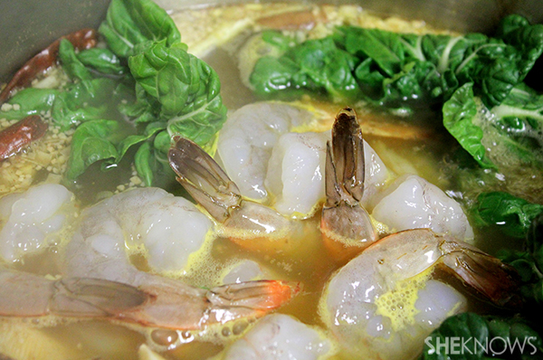 Thai shrimp noodle soup | Sheknows.com - add shrimp, fish cake, other seafood
