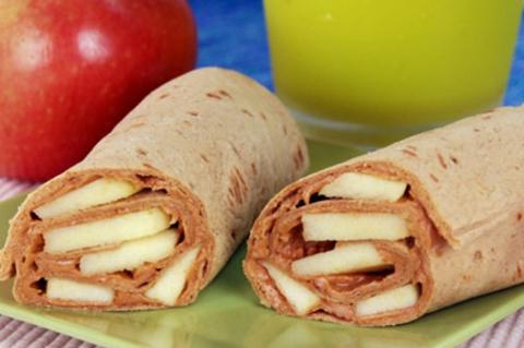 Peanut butter apple wraps   ChefMom.com