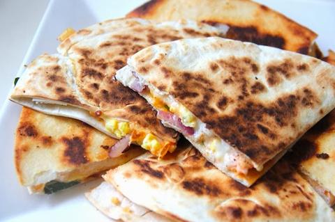Egg and cheese breakfast quesadilla   ChefMom.com