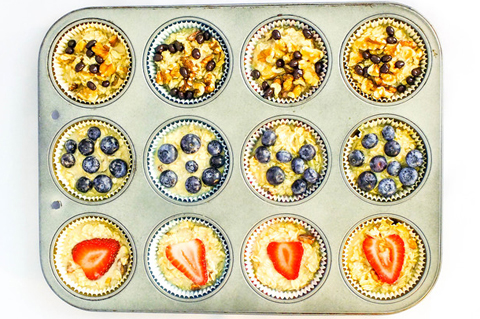 Individual baked oatmeal cups   ChefMom.com