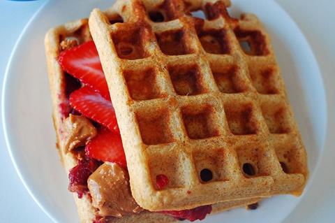 Waffle peanut butter sandwich   ChefMom.com