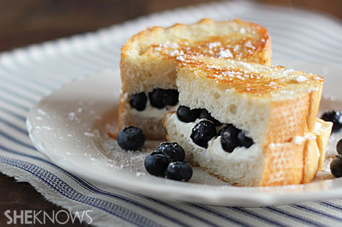 Blueberry Breakfast Grilled Cheese | ChefMom.com