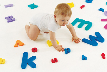 Baby crawling with alphabet letters | Sheknows.com