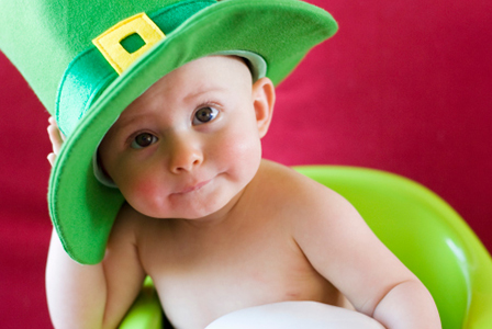 Baby wearing St. Patrick's Day hat | Sheknows.com