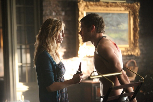 Caroline and Klaus argue on The Vampire Diaries