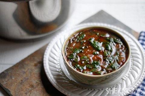 black bean soup with chorizo