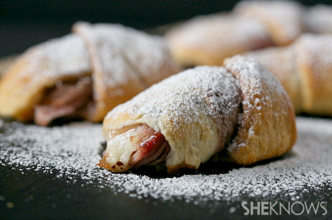 All the flavor of a Monte Cristo sandwich rolled up in a crescent roll ...