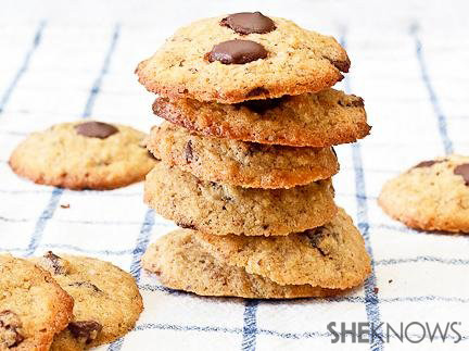 Whole wheat chocolate chip and coconut cookies