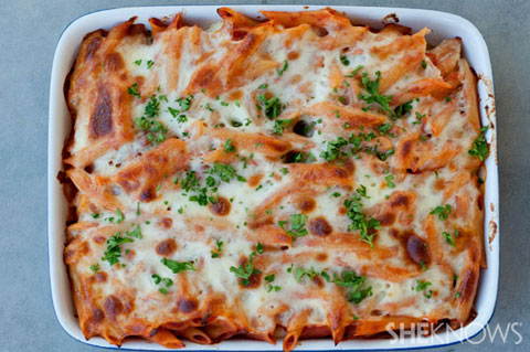 4 cheese baked ziti with basil recipe