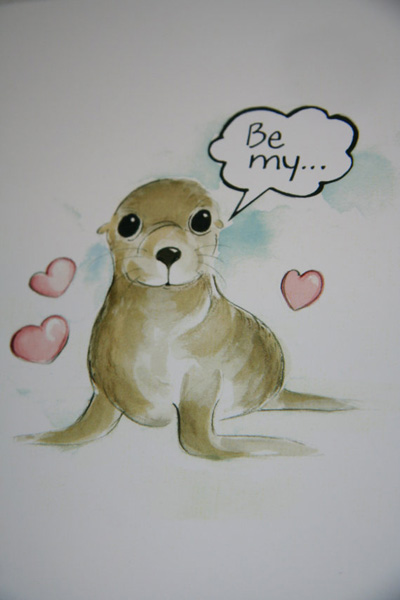Be My Baby Sea Lion Valentine