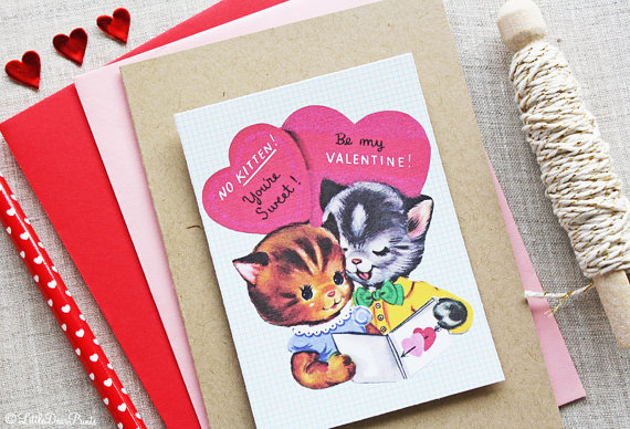 Valentine's cards that are the cat's meow