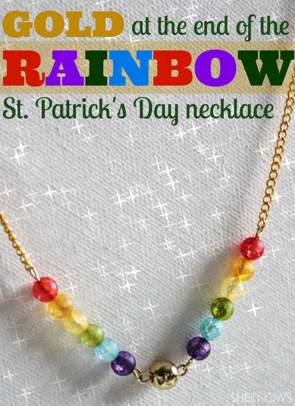 15-Minute DIY rainbow necklace for St. Patrick's Day