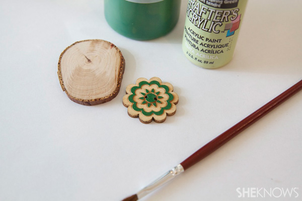 DIY wood disk gift tags Step 1: Cut branches