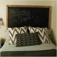 Plain chalkboard headboard