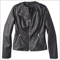 Mossimo Women's Faux Leather Jacket