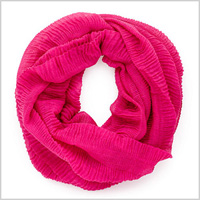 Pink Infinity Accordion Scarf