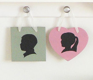 Silhouette plaques