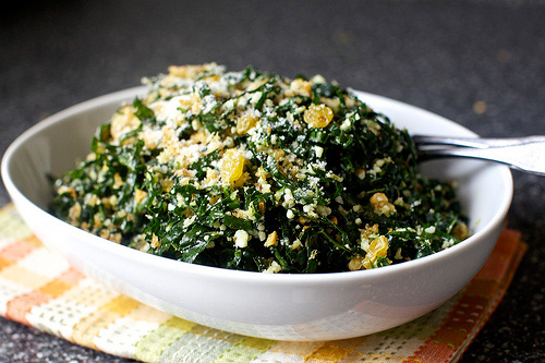 Kale Salad with Pecorino and Walnuts