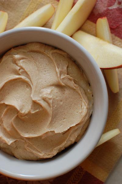 8 Yogurt, peanut butter, honey and cinnamon dip