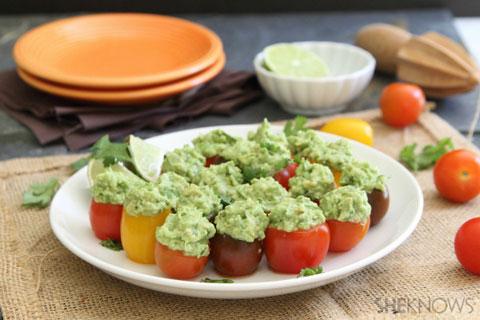 Bite-sized Mini Tomatoes with Guacamole