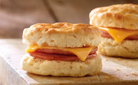Ham and Cheese Biscuit Snack-Sized Sandwiches