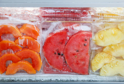 9. Packaged fruits in juice