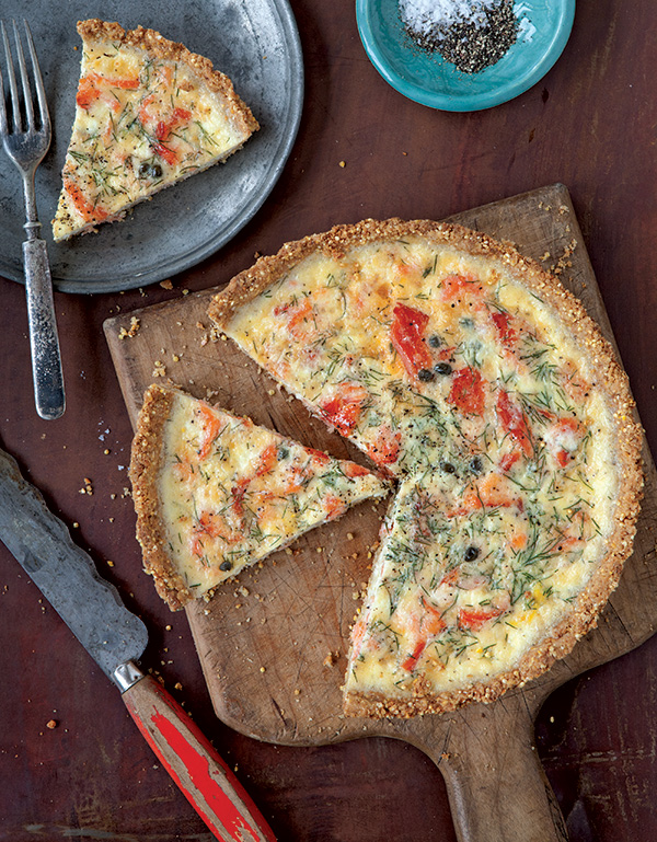 A savory tart that's light, yet filling