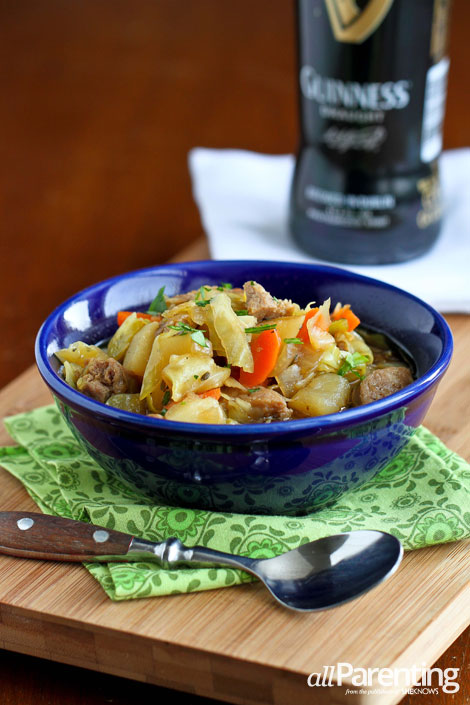allParenting Sausage, cabbage and Irish stout soup