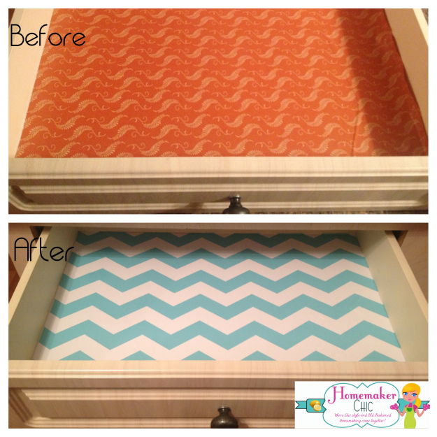 Contact paper: Kitchen drawer makeover