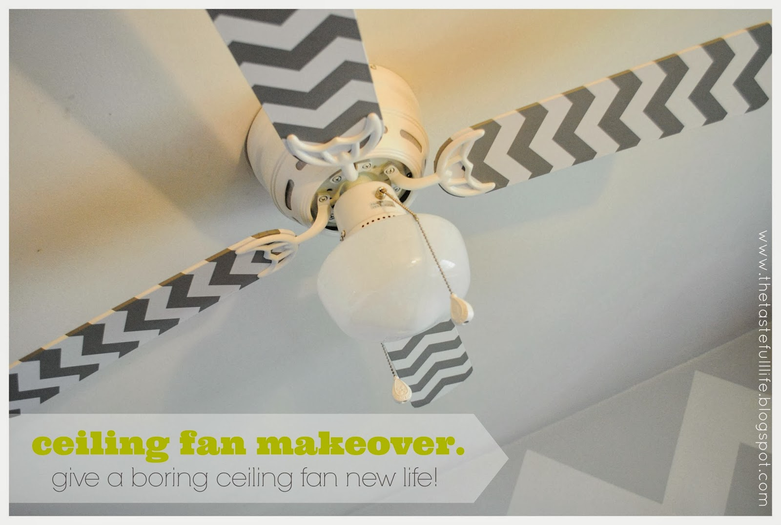 contact paper: Ceiling fan makeover