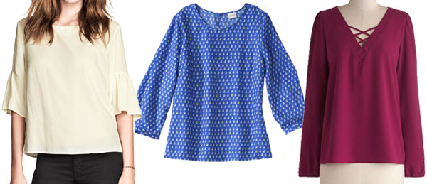 Spring figure flattering trends: Boxy blouses